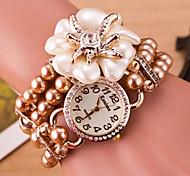 Woman Star Flower Double Coil Winding Fashion Wrist Watch