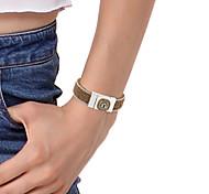 crystal Leather Charm Bracelet Alloy Buckle Colorful Big Rhinestone Woman Bracelet Men Fashion Jewelry