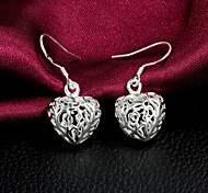 "2015 Fashion 925 Sterling Silver Noble ""Heart""Drop Earrings Wedding Party  Daily For Woman&Lady"