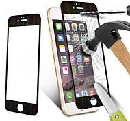 fibra de carbono protector de pantalla de borde redondo película endurecido claro de vidrio templado para iPhone6 + / 6s + 5,5 pulgadas