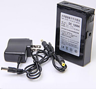 12V High Capacity Multi-purpose Rechargeable Lithium Backup Battery Black (6800mAh)