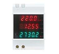 AC80-300V 100A Multi-functional Digital Din Rail Current Voltage Power Factor Meter Ammeter Voltmeter