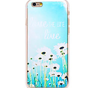 Love the Life You Live Pattern Transparent PC Back Cover for iPhone 6