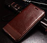 pu bolsa de couro carteira com slot para cartão de tampa da caixa de telefone para Apple iPhone 6 6s / iphone (cores sortidas)