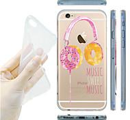 maycari®sweet Musik transparente TPU Tasche für iPhone 6 / iphone 6s