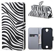 Zebrastreifen Brieftasche Lederstandplatzfall für Acer Liquid Z320 Z330