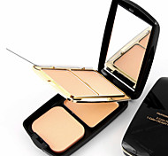 Three Colors in one Face Powder Makeup Powder Face Concealer Beauty Set(Assorted Color) with Powder Puff for Asia Color