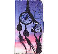 Campanula Pattern PU Leather Phone Case For iPhone 5C