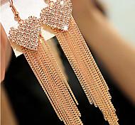 Imitation de diamant Cœur Mode Forme de Coeur Doré Écran couleur Bijoux