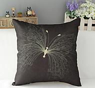 "43cm*43cm 17""*17"" Butterfly Cotton / Linen Cotton&linen Pillow Cover / Throw Pillow With No Insert"