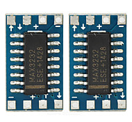 MAX3232CSE Mini RS232 to TTL Serial Port Adapter Boards - Deep Blue (2 PCS)