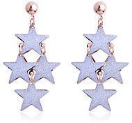 European Style Fashion Glitter 3 Layers Star Dangle Earrings