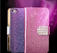 Luxury Shiny Diamond PU Leather CaseWith Safe Buckle Bling Case For iPhone 5/5S