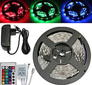 wasserdichte 5m 150x5050 SMD RGB LED-Streifen und 24key Fernbedienung und 3A us eu au uk Stromversorgung (AC110-240V)