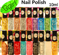 1PCS BGIRL Glitter Flower Nail Polish Nail Polish Pen 10ML 18Colors Optional