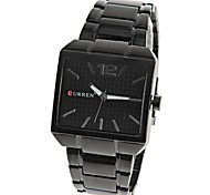 CURREN® Quartz Watch 1 Number and Strips Hour Marks Steel Watch Band for Men Wrist Watch Cool Watch Unique Watch Fashion Watch