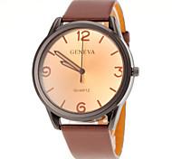 Men Casual Design PU Band Quartz Watch Wrist Watch Cool Watch Unique Watch