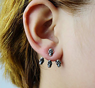 Stud Earrings Silver Plated Gold Plated Fashion Skull / Skeleton Silver Golden Jewelry Party Halloween Daily Casual 2pcs