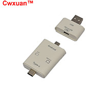 Cwxuan™ 3-In-1 USB 3.1 Type C / USB 2.0 / Micro USB OTG Card Reader