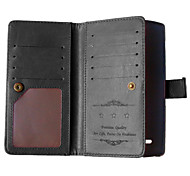 Solid Color Card Stand Leather Case for LG G4