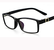 [Free Lenses]   Acetate/Plastic Square Full-Rim Classic Prescription Eyeglasses