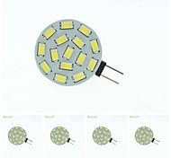 8W G4 Focos LED MR11 15 SMD 5630 700-900 lm Blanco Cálido / Blanco Natural Regulable DC 12 / AC 12 / AC 24 / DC 24 / 09.30 V 5 piezas