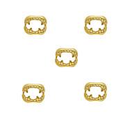10pcs Fangs Charm 3D Metal Alloy 6mm x7mm Nail Art Decoration