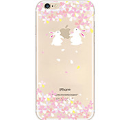 Rabbit Pattern TPU Soft Phone Case for iPhone 6/6S