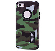 Camouflage patterns High Quality Snap-on PC + Silicone Hybrid Combo Armor Case Cover for iPhone 5C(Assorted Color)