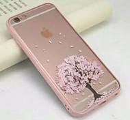 под вишневое дерево, полный акриловой прозрачной оберточной мягких случаев для Iphone 6с 6 плюс 5 секунд; 5 как таковые