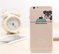 schnauzer padrão cão TPU / acrílico de volta caso capa para iphone 6s plus / 6 mais