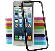 New Transparent PC+TPU Soft Bumper for iPhone 4/4S(Assorted Color)