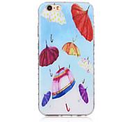 padrão pequeno guarda-chuva transparente textura do material TPU para iphone 6 / 6s bf