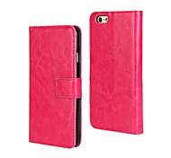 PU fou motif de cheval business case flip en cuir pour iPhone 6 plus / 6s plus (couleurs assorties)