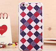 Lattice Litchi Grain TPU Transparent Side Back Cover for iPhone 5/5S(Assorted Colors)