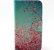 Pink Plum Pattern PU Leather Full Body Cover with Stand for Sony Xperia Z5 Compact