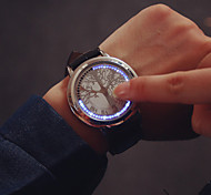 Large Dial LED Touch Screen Couple Watches Men Luxury Brand Watches Women Dress Quartz Clocks Vintage Students Watch