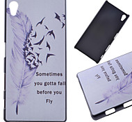 Flying Feather Pattern PC Hard Cover Case for Sony Z5