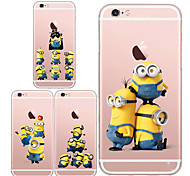 Minions Meng huang's eyes Soft Transparent TPU Back Case for iPhone 5S/5