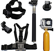 6pcs In 1 Accessori GoPro Montaggio / Con bretelle / Accessori Kit PerGopro Hero 2 / Gopro Hero 3 / Gopro Hero 3+ / Tutti / Sony