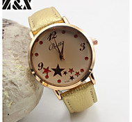 Women's Fashion Personality Quartz  Leather Analog  Star Wrist Watch(Assorted Colors)