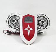 argento moto bluetooth altoparlante del fm lettore mp3 12v manubrio sistema audio