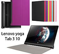 casos tableta protectoras fundas de cuero de la pistolera del soporte para Lenovo yoga3 10 pulgadas