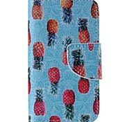 Pineapple Pattern Cell Phone Leather For iPhone 4/4S