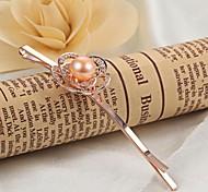 Epingle à cheveux ( Perle / Plaqué Or Rose ) Mariage / Soirée / Quotidien