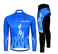 KEIYUEM Cycling Clothing Sets/Suits / Arm Warmers / Tights Women's / Unisex BikeWaterproof / Breathable / Insulated / Quick Dry /