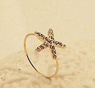 Korea Starfish Diamond Fashion Rings