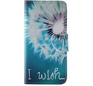 White Dandelion Painted PU Phone Case for iphone 6/6S