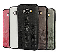 Stereo Crocodile Totem Skinning PU Leather for Galaxy A7/A8(Assorted Colors)