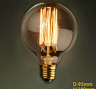 E27 40W G95 Straight Wire Table Round Creative Edison Retro Modern Bar Retro Decorative Lamp